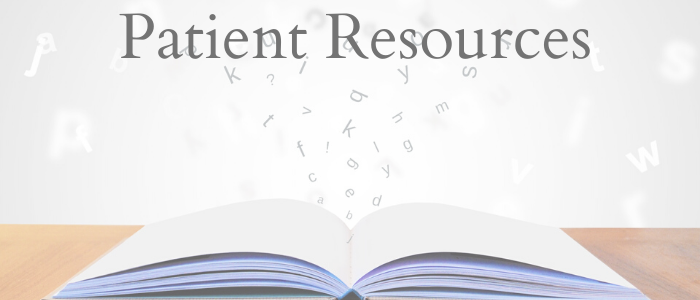 Patient Resources list