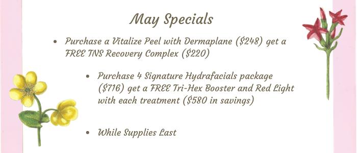 May Specials